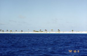 Approaching the coast of Bonaire