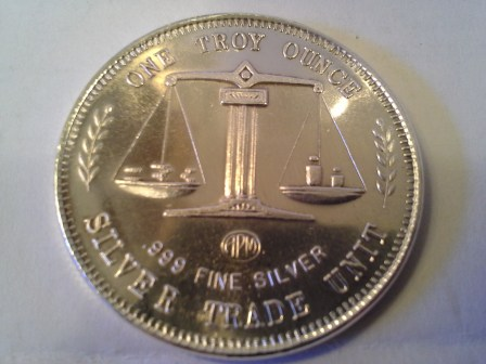 1 OZ .999 Fine Silver APM USS Constitution Silver Trade Unit Round