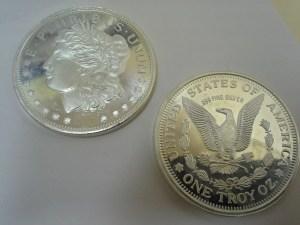 1 Troy Oz .999 Fine Silver Lady Liberty - Eagle Round