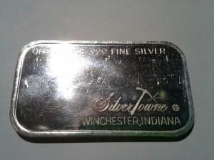 1 oz .999 Fine Silvertowne Nevada Mine Panorama Silver Bar