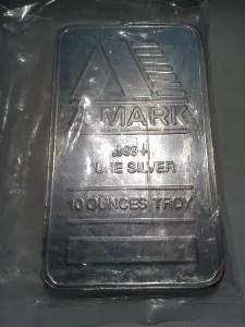 10 Ounces Troy .999 Fine Silver Bar – A-Mark