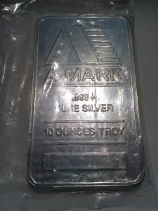 10 Ounces Troy .999 Fine Silver Bar – A-Mark