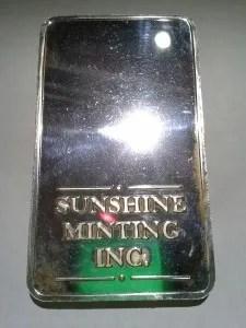 Sunshine Mint .999 Fine Silver Bar 10 Troy Ounces