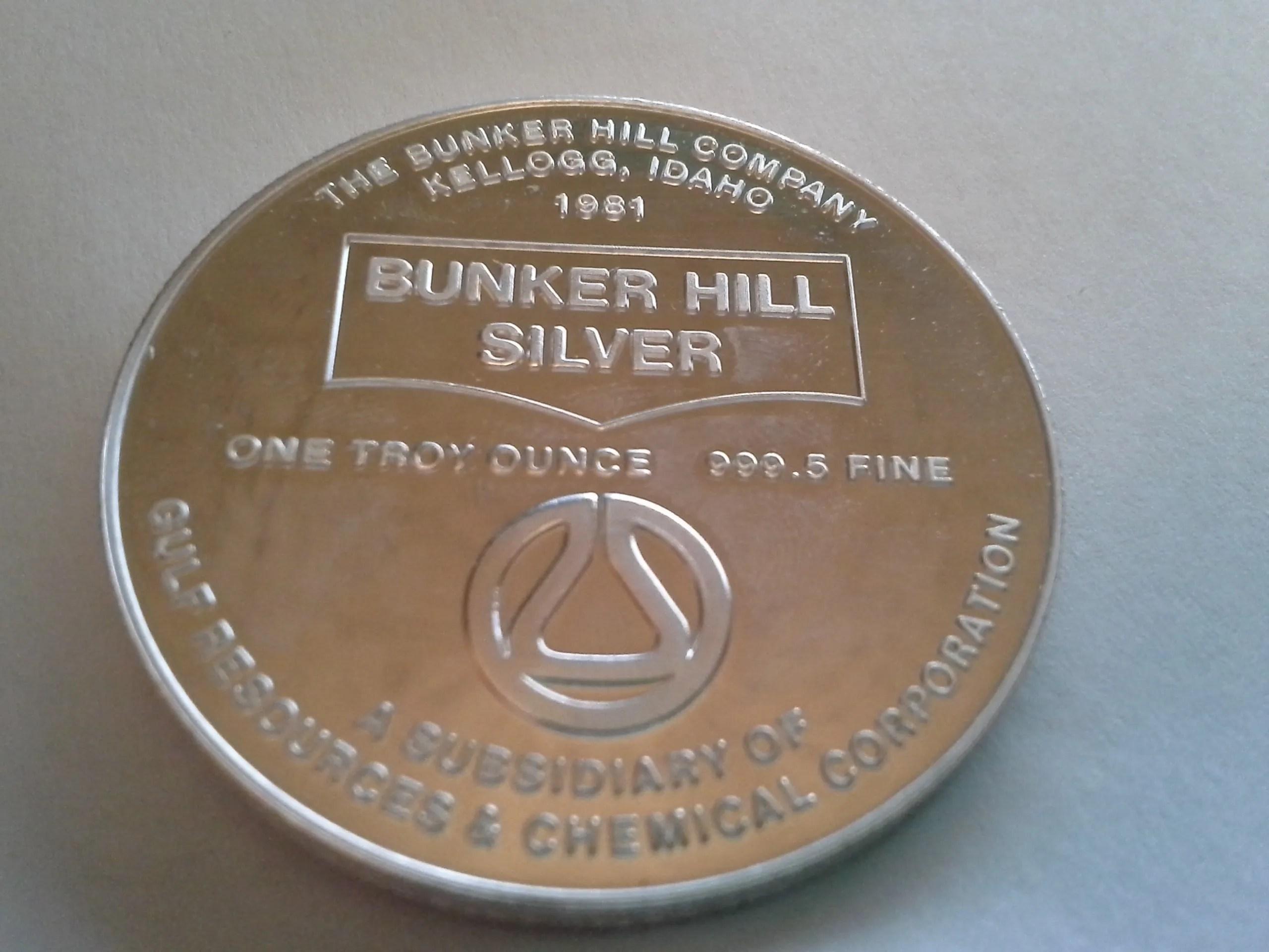 1981 Bh 1 Bunker Hill Company Medallion Series 9995 Fine