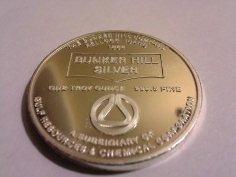 1982 BH-4 Bunker Hill Company Medallion Series .9995 Fine Silver 1OZ Round - Rare