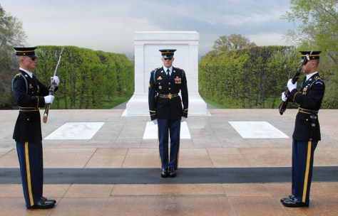The Changing of the Guard at Tomb of the Unknown Soldiers, Arlington, VA