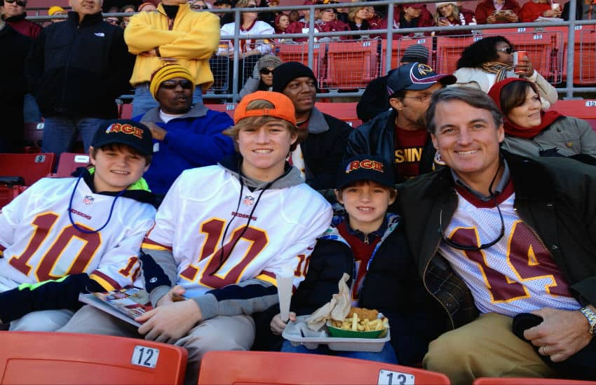 David Mize at Redskins Game