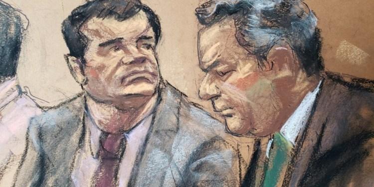 """""""El Chapo"""", durante el juicio."""
