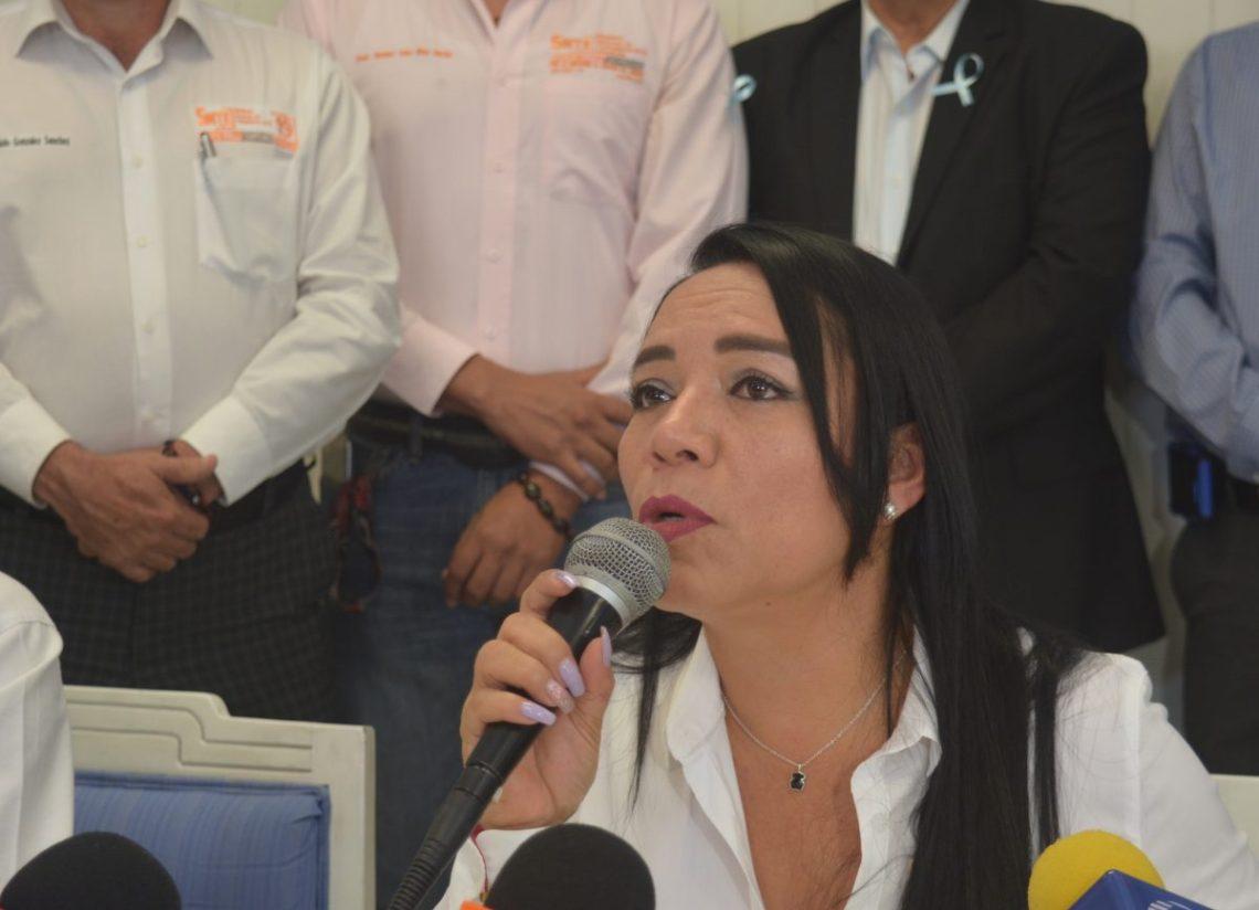 Gabriela Bañón, secretaria general del SNTE en Morelos.
