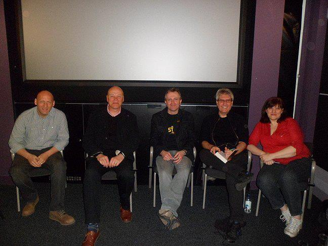 David Moody, Simon Clark, Conrad Williams, Paul Kane and Marie O'Regan - photo courtesy of Paul Kane