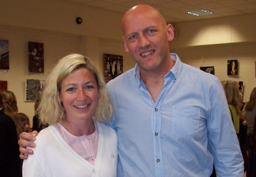 David Moody and Kate Ashfield (Liz from Shaun of the Dead)