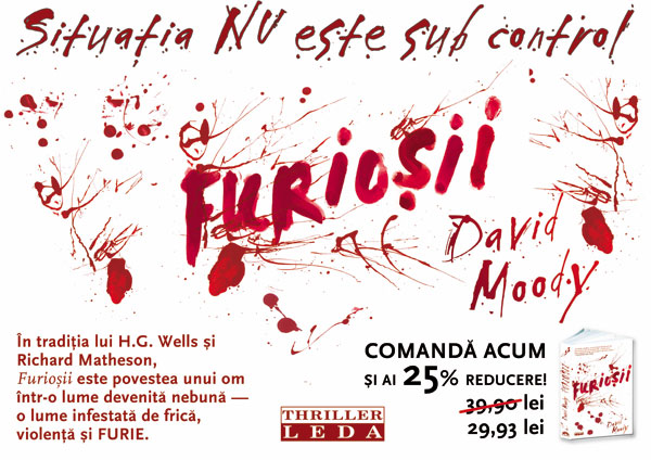 Furiosii - Romanian edition of Hater (published by Leda)