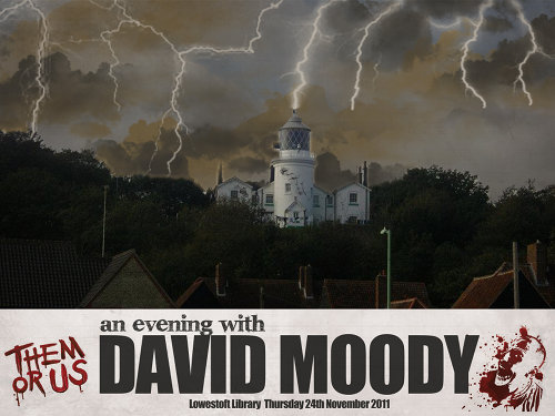 An evening with David Moody - artwork by David Naughton-Shires