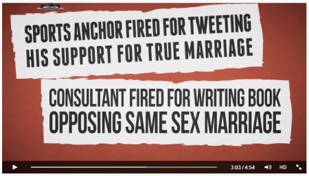 Consultant fired for writing book opposing same sex marriage