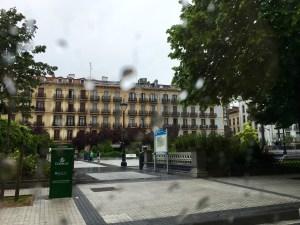 Foto desde el coche, al llegar a Donostia.