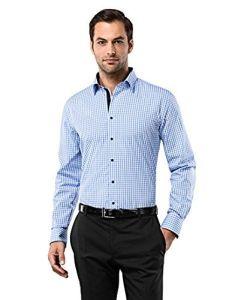 Camisa casual con estampado de cuadros