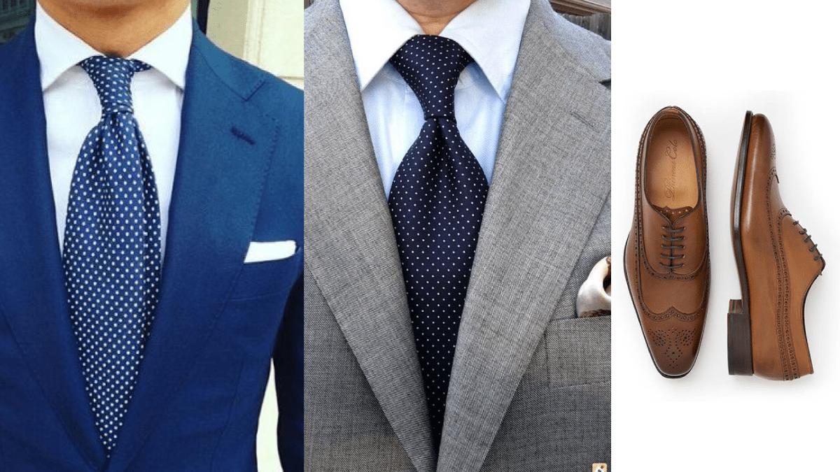 Como combinar traje con zapatos cafes