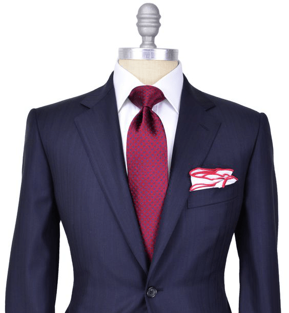 Traje Azul Marino y corbata roja