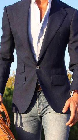 Cómo combinar jeans con saco 6