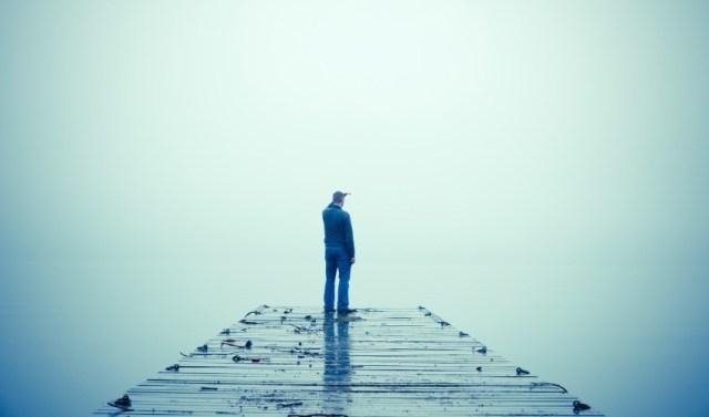 Man Embracing Uncertainty