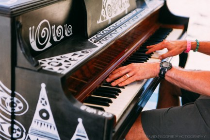Vancouver Folk Music Festival - piano playing