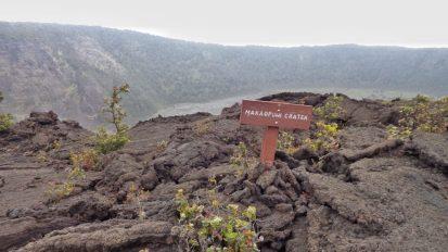 The destination, Makaopuhi Crater
