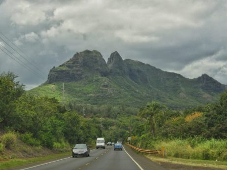 Driving to the north side of Kauai