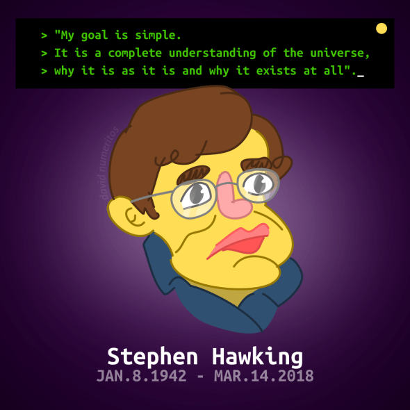 Stephen Hawking cartoon