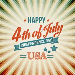 Independence Day typography card. Vector illustration