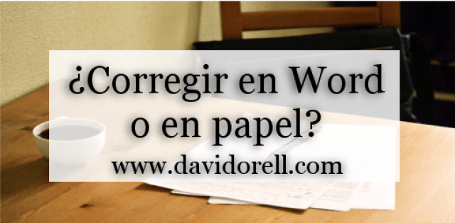 corregir en word o en papel