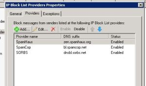Block List Providers