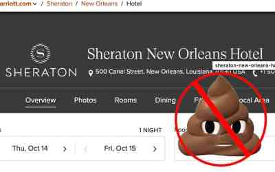 My Sheraton New Orleans and Corporate Customer Service Experience