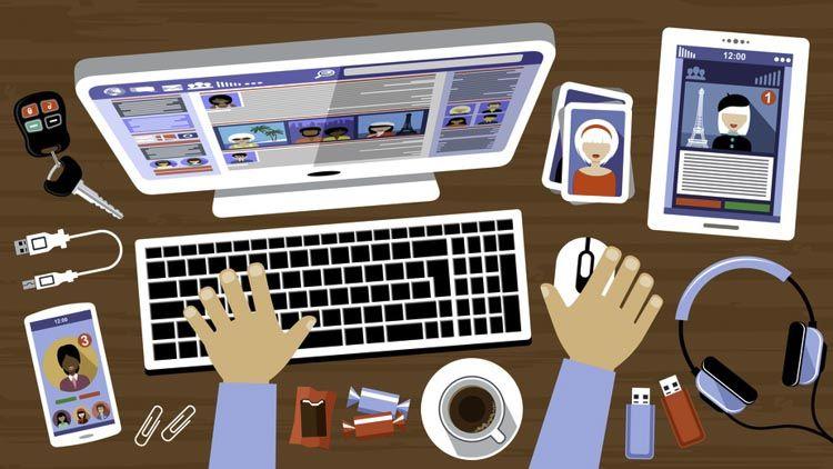 Redes sociales de una empresa
