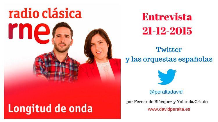 Entrevista en @radioclasica: Twitter y las orquestas españolas