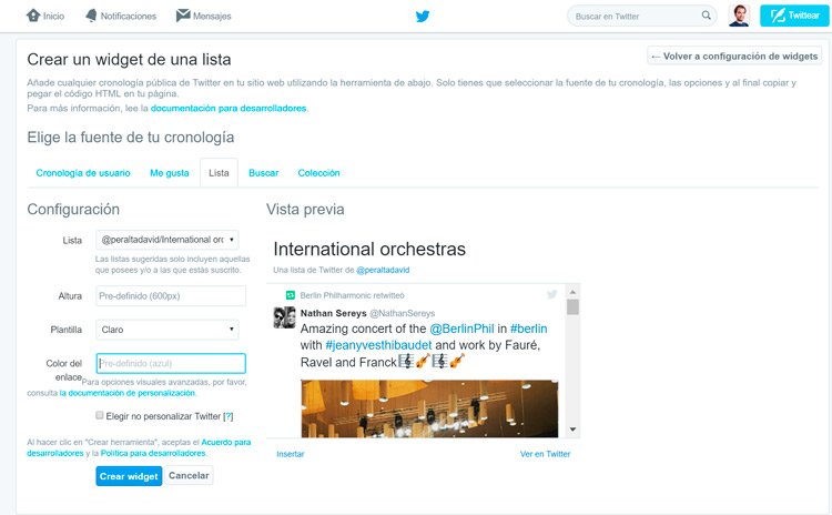 crear-widgets-en-Twitter-configuracion