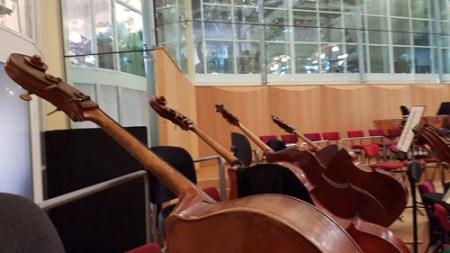 sala de ensayos de la Orquesta Nacional de Holanda