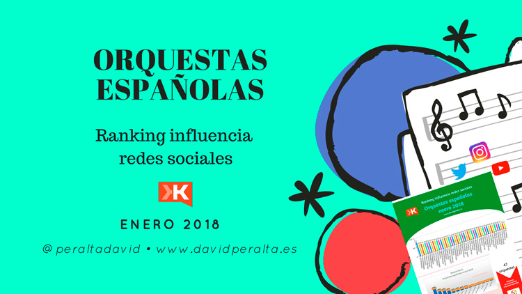 Grandes orquestas españolas en redes sociales: clasificación por influencia enero 2018