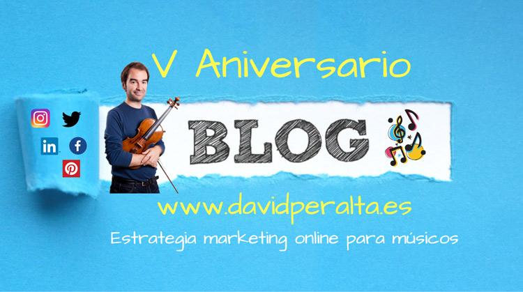 Blog de marketing, música clásica y redes sociales. V aniversario de davidperalta.es