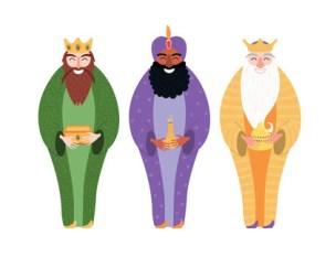 Estereotipo de la imagen de los reyes magos