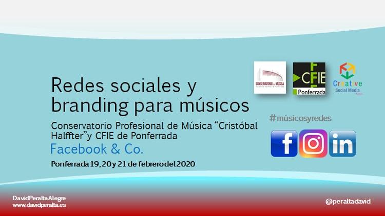 Redes sociales para músicos además de clases de violín en Ponferrada