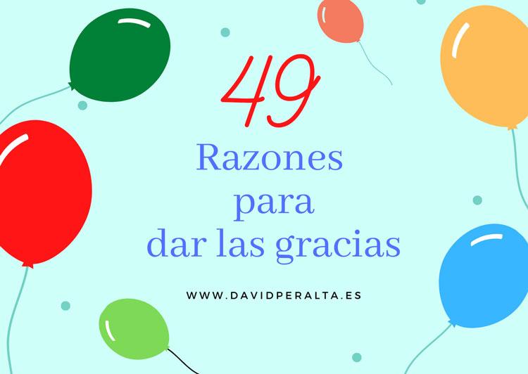49 razones para darte las gracias