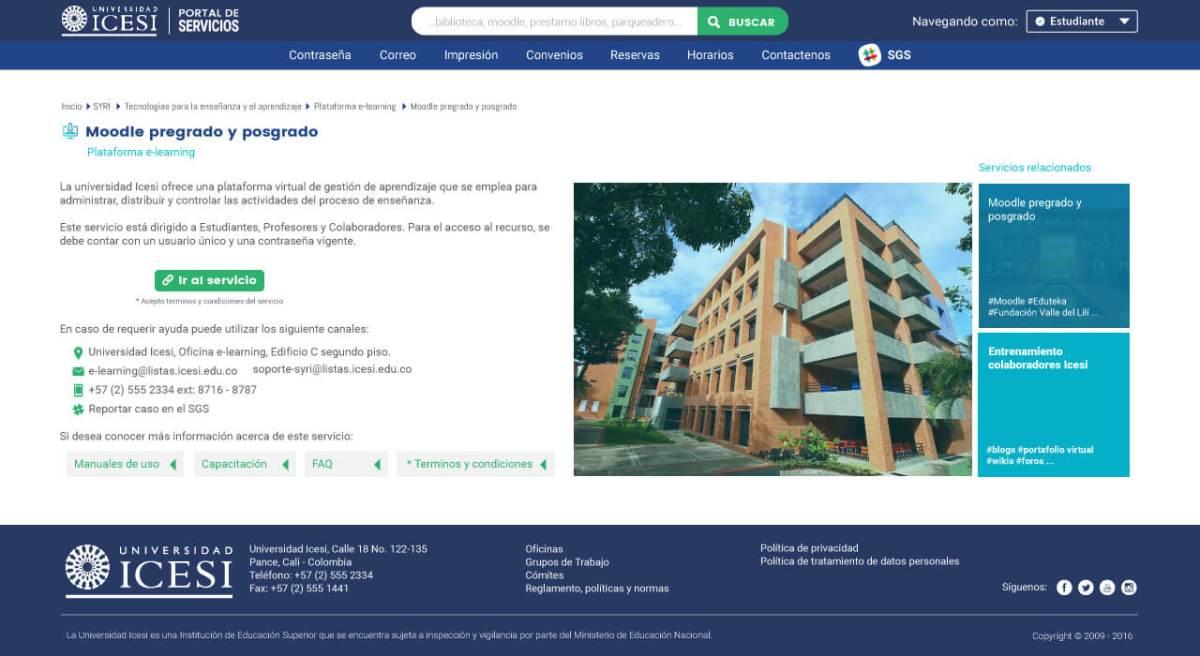 Portal Servicios Universidad Icesi