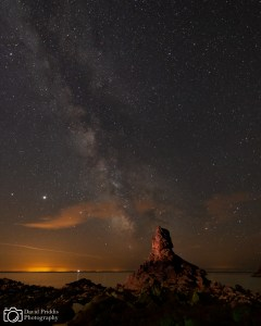 Milkyway over Beauport Bay, Jersey, Channel Islands.