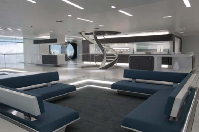 Futuristic Living Room Interior Design Concept - DDR
