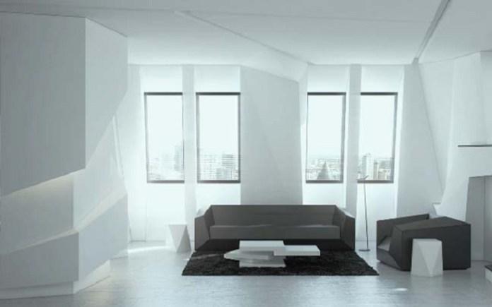 Futuristic Living Room Interior Design Concept Ddr