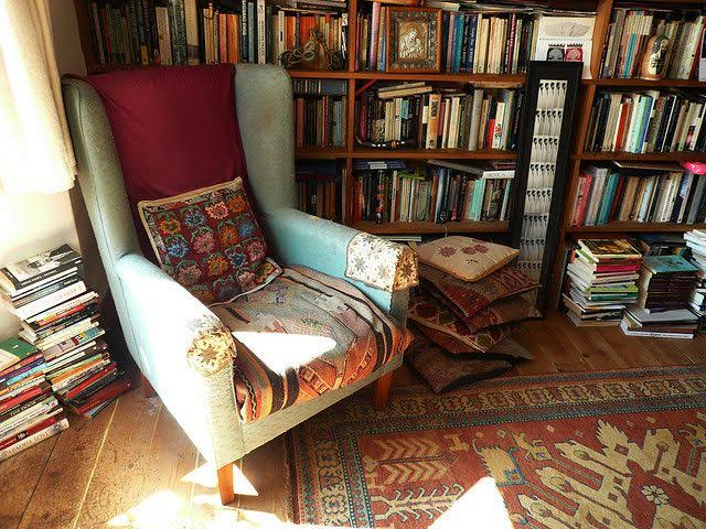 bohemian rooms home library
