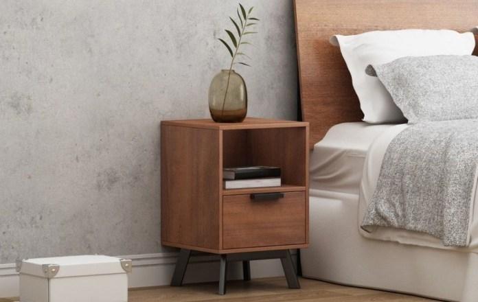 Wooden Bedside Table Design