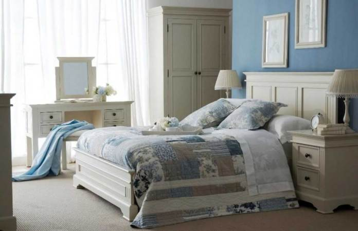 Blue Shabby Chic Bedroom