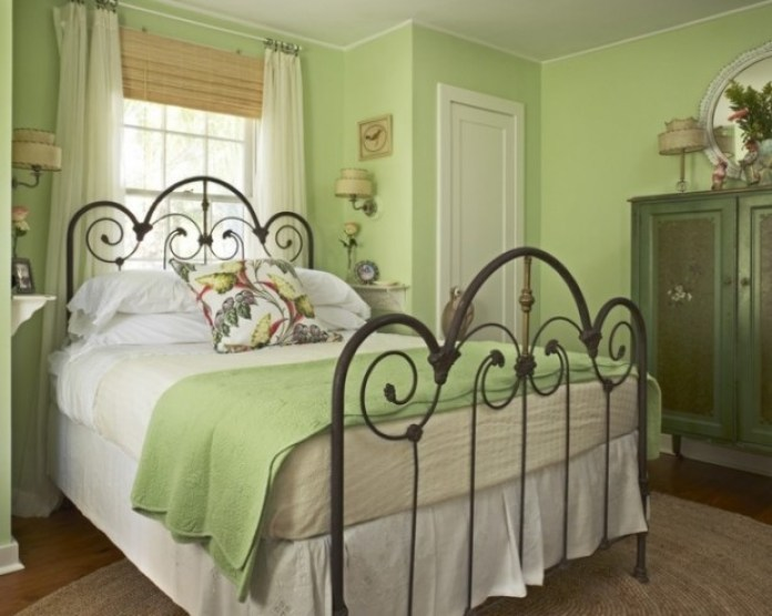Green Shabby Chic Bedroom