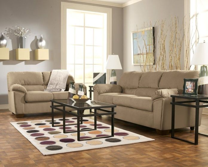 Mocha Color Living Room